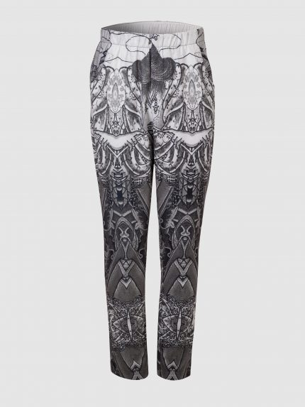 Hip-Hop Tattoo Trousers / Gray