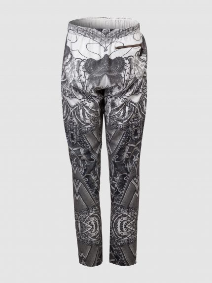 Hip-Hop Tattoo Trousers - Gray - Back