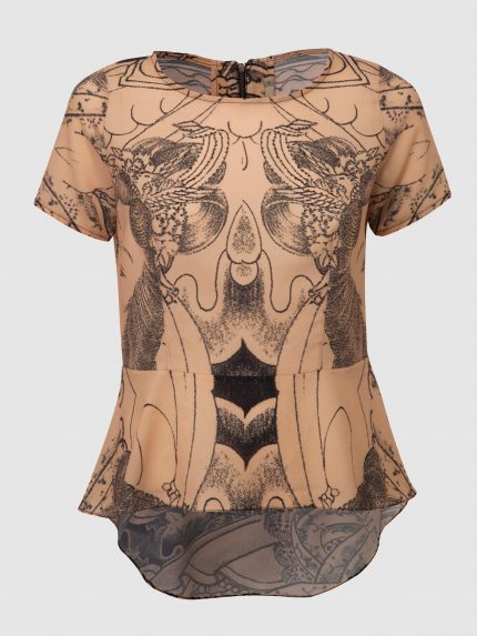 חולצת פפלום מקועקעת / ניוד