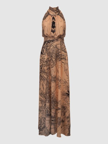 Halter Long Dress / Nude