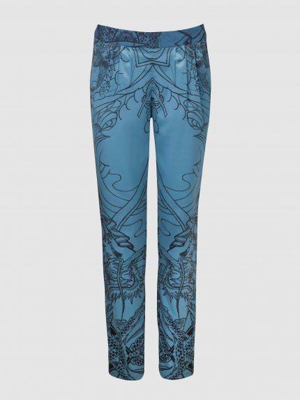מכנסי פיג'מה מקועקעים / כחול