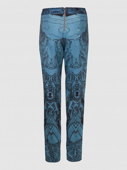 מכנסי פיג'מה מקועקעים / כחול / גב