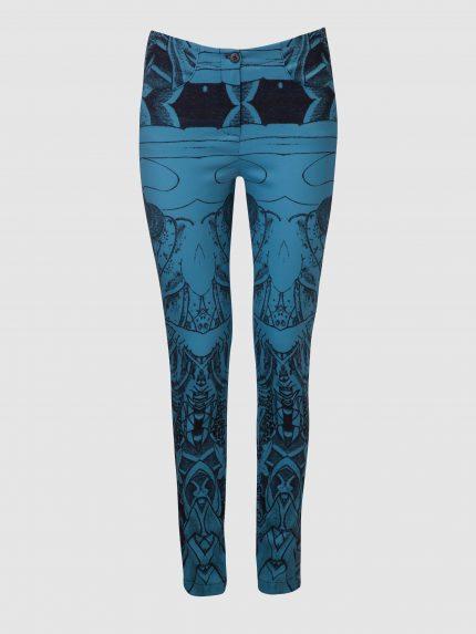 מכנסי סקיני מקועקעים / כחול