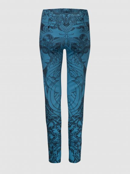 Skinny Tattoo Trousers / Blue / Back