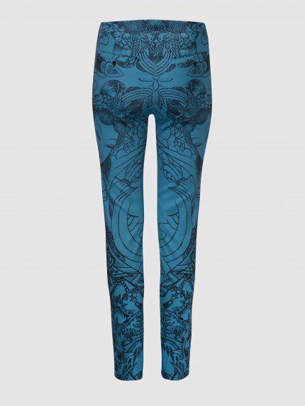 מכנסי סקיני מקועקעים / כחול / גב