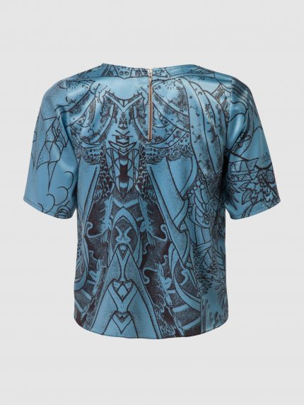 Tattoo T-Shirt / Blue / Back
