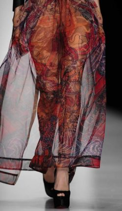 Moscow Fashion Week / Tattoo Translucent Dress / Detail