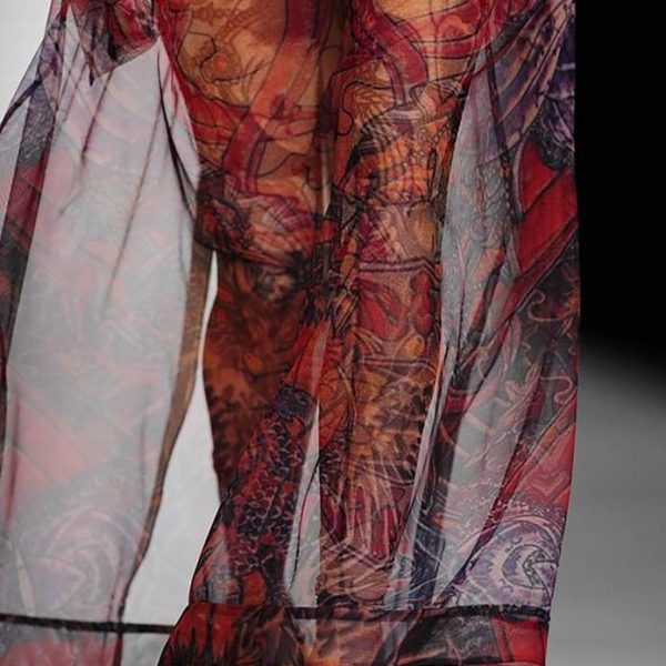 Moscow Fashion Week / Tattoo Translucent Dress / Detail