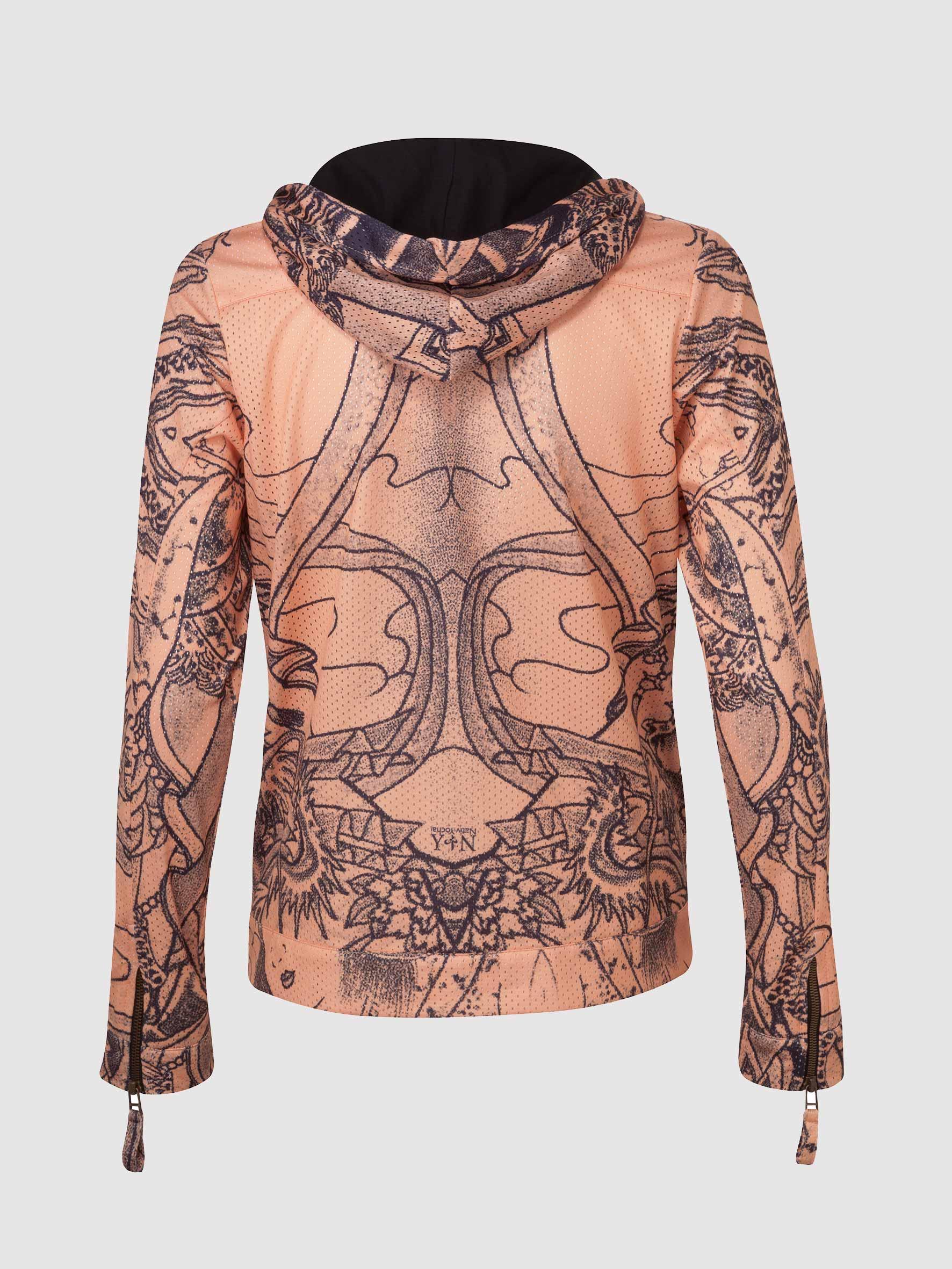 Women Hip-Hop Tattoo Perforated Hoodie - Nativ Tattoo-6197