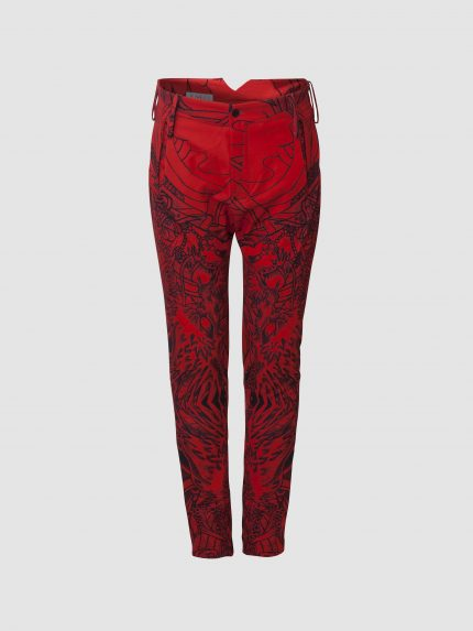 מכנסים מקועקעים נינג'ה / אדום