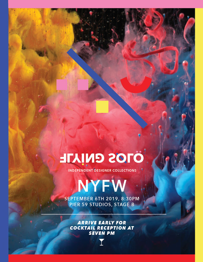 Flying Solo's September 2019 NYFW show invitation