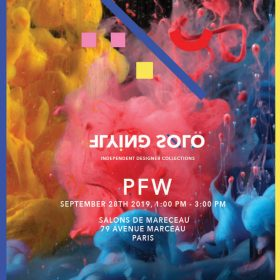 Flying Solo's September 2019 PFW show invitation