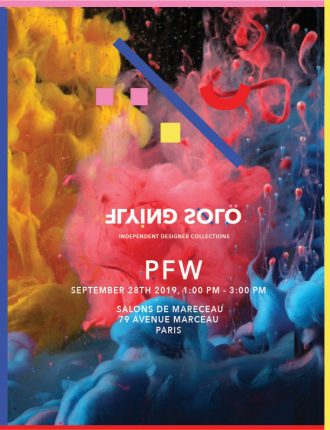 Flying Solo's September 2019 PFW show invitation